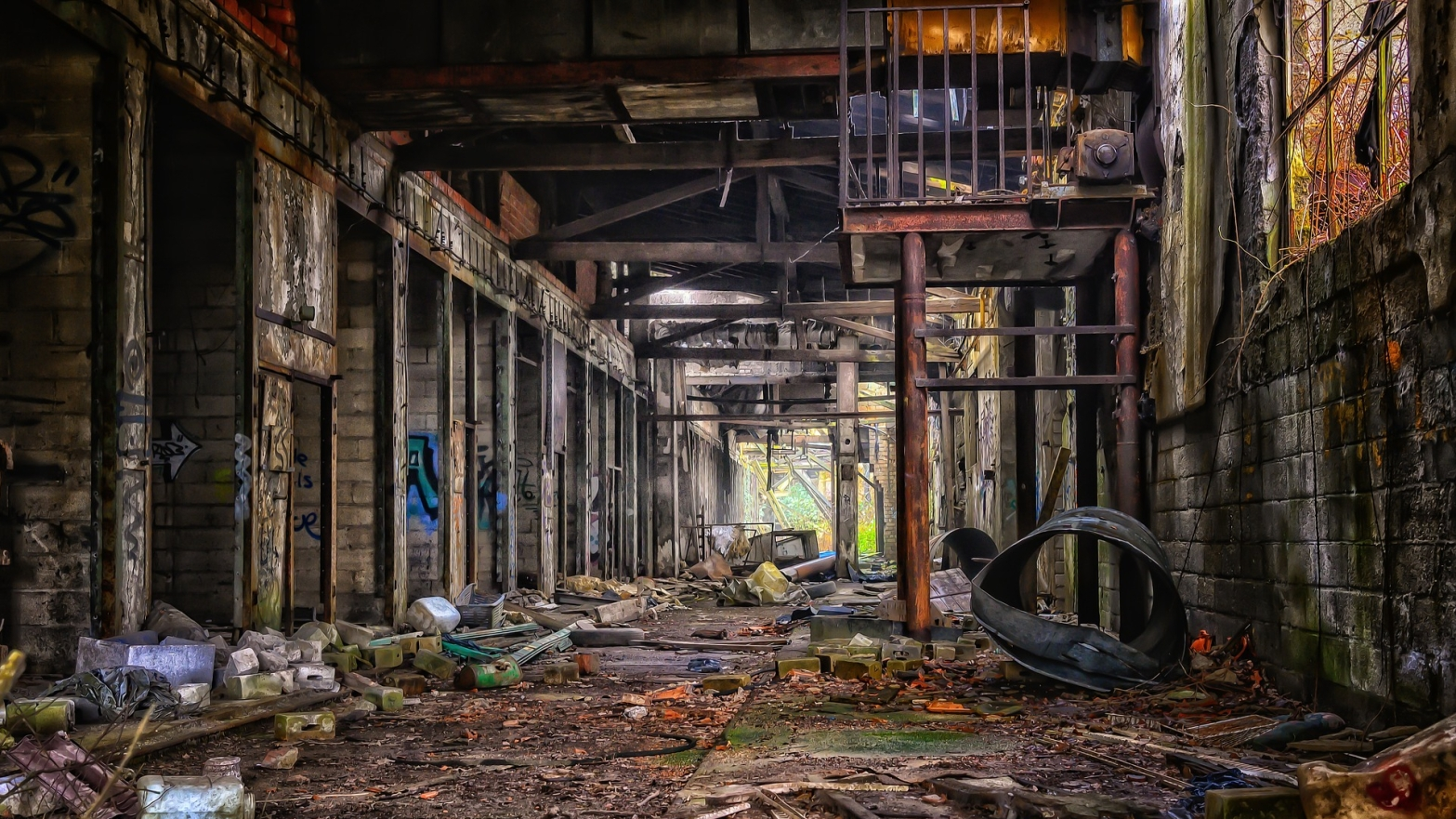 ruined warehouse